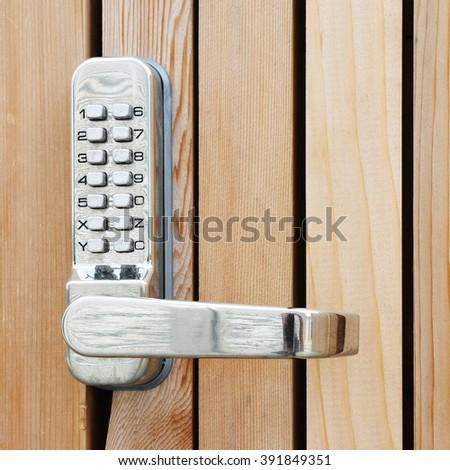 Pass Code Door Handle Lock - stock photo