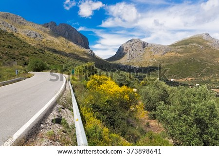 Pass road in Andalusia, Spain - stock photo