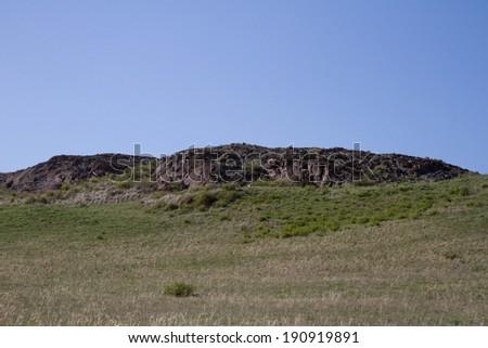 Pass the steppe Malaysary - stock photo