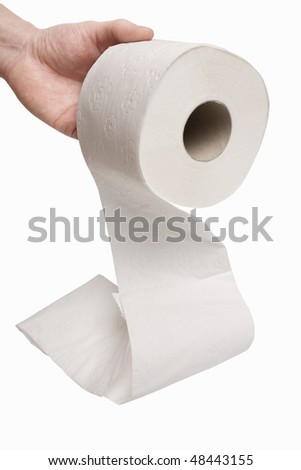 Pass Toilet roll - stock photo