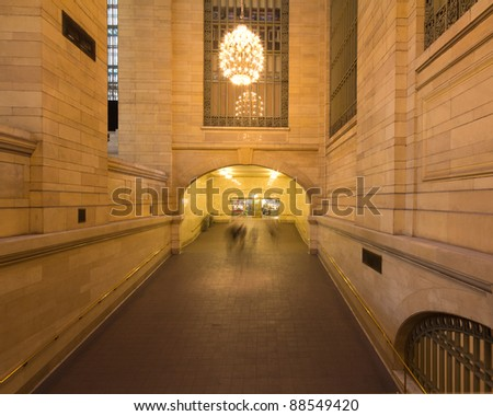 Passage in New York City's historic Grand Central Station Terminal - stock photo