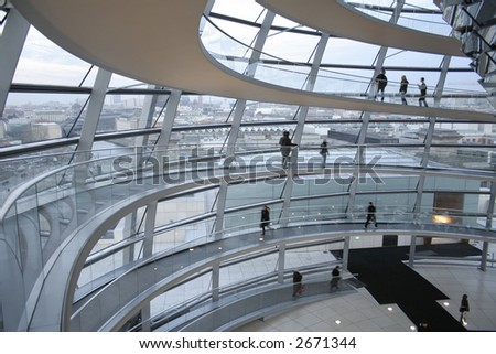 passage in the reichstag, berlin, germany
