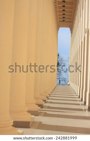 passage on entrance to the theatre, Sochi - stock photo