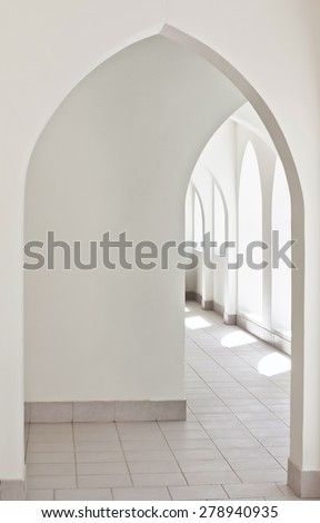 passage with arches - stock photo