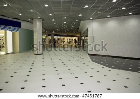 passageway in mall - stock photo