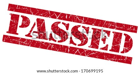 Passed grunge red stamp - stock photo