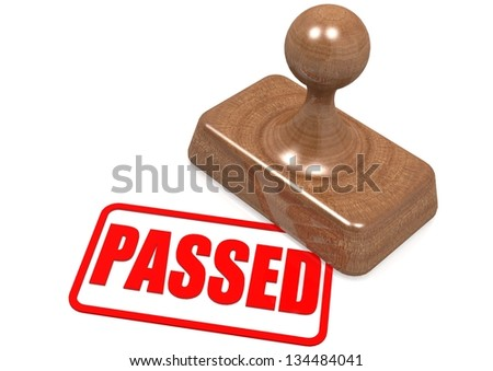 Passed word on wooden stamp - stock photo