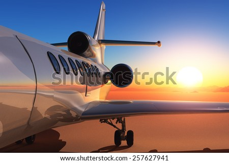 Passenger aircraft on the ground. - stock photo