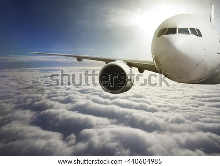 passenger airliner . - stock photo
