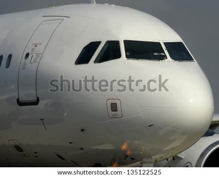 Passenger airplane - stock photo