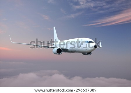 Passenger Airplane in the sky. Airliner - Aircraft.
