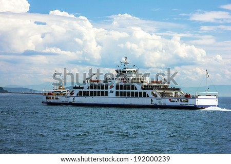 Passenger ferry boat Sea Star sailing in Bosphorus, Istanbul, Turkey