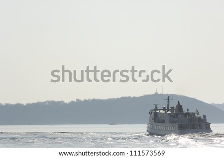 Passenger ferry in the archipelago of Gothenburg, Sweden
