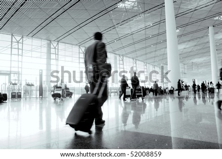 passenger in the Beijing airport