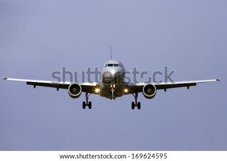 passenger plane, airoplane - stock photo