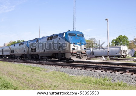 Passenger Train Engines - stock photo
