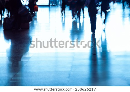 passengers abstract background - stock photo