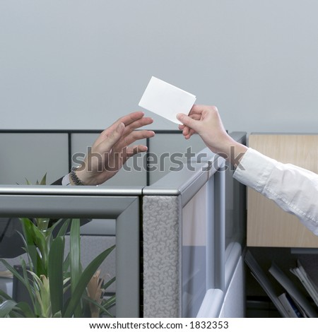 Passing note - stock photo