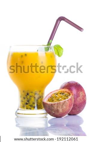 Passion fruit juice - stock photo