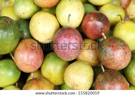 Passion fruit on the market  - stock photo