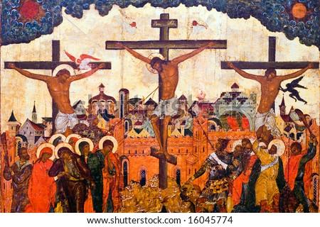 "passion of christ -  of ""Religious Icons"" multiple series in studio's portfolio - stock photo"
