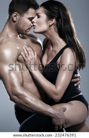 Passionate couple  - stock photo