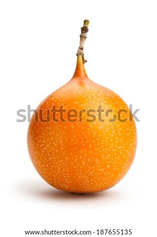 passionfruit isolated - stock photo