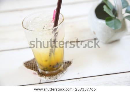 Passionfruit juice - stock photo