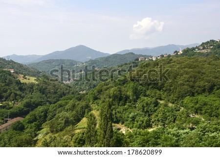 Passo dei Giovi (Genova, Liguria, Italy), mountain landscape at summer - stock photo