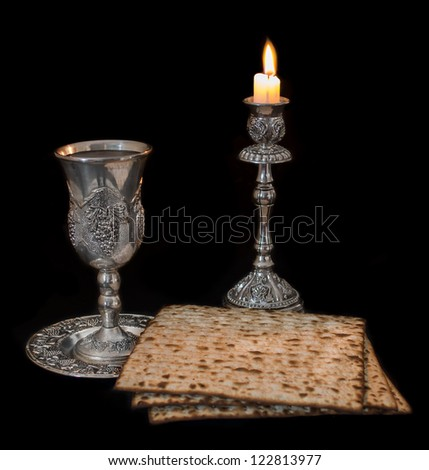 Passover on Black Background
