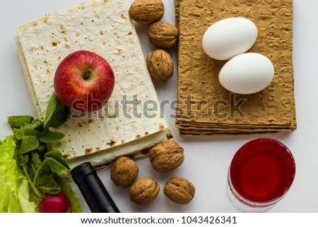 Passover Feast Unleavened Bread Concept Symbolic Stock Photo