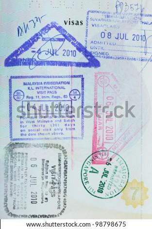 passport - stock photo