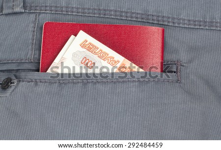 passport and money in the back pocket of your pants