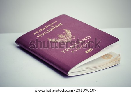 passport book of thailand, process color