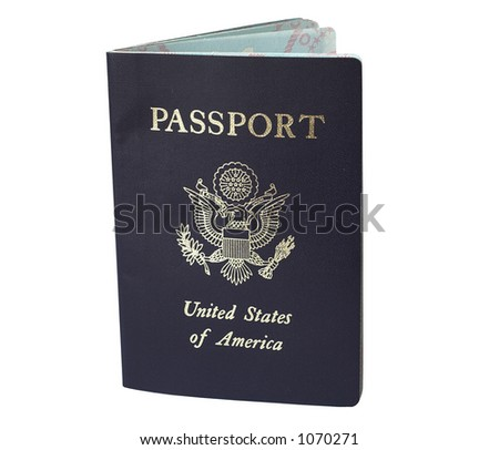 Passport - clipping path included - stock photo