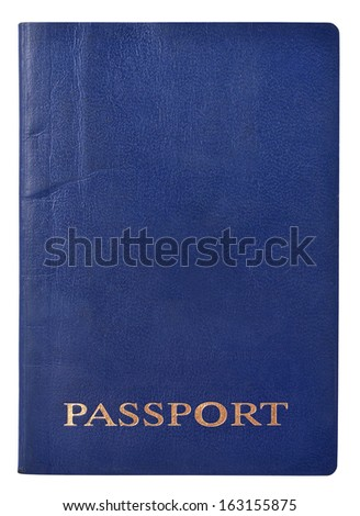 Passport cover isolated on white background - stock photo