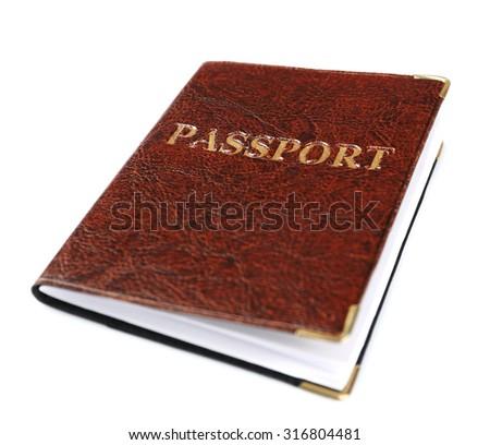 Passport isolated on white - stock photo