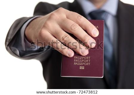 Passport required - stock photo