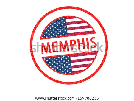 Passport-style MEMPHIS rubber stamp over a white background.