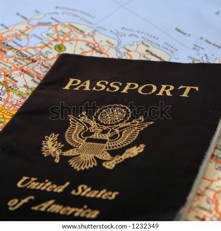 passport to travel - stock photo