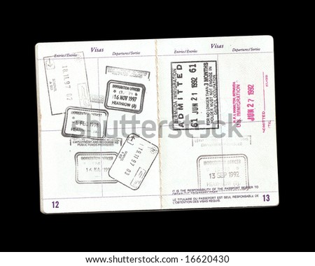 passport with clipping path