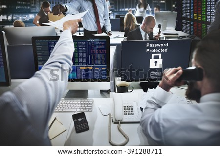 Password Protected Privacy Safety Private Concept - stock photo