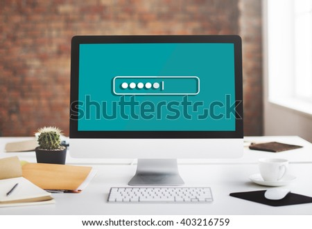 Password Security Login Technology Business Concept - stock photo