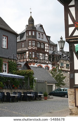 past and present in Brausfels in Germany
