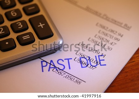 Past due bill - stock photo