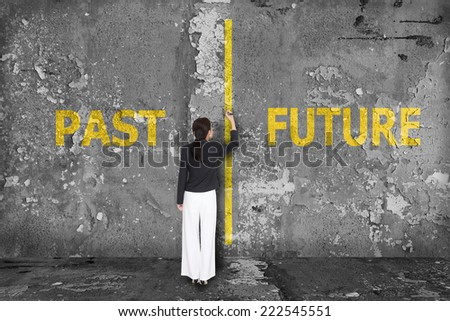 Past or future - stock photo