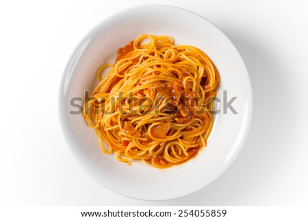 Pasta amatriciana - stock photo