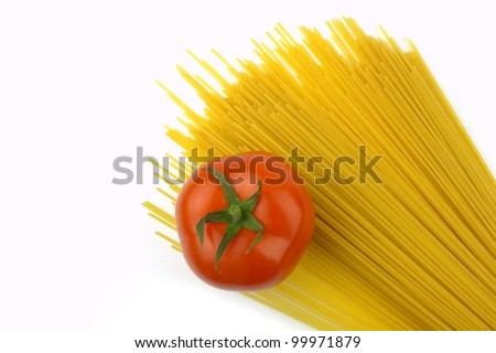 Pasta and tomato - stock photo