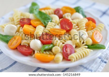 Pasta Caprese - stock photo