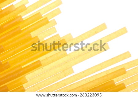 Pasta close-up on white. Abstract background. - stock photo
